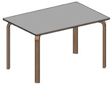 Bord m. træben og grå laminat